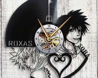 Roxas & Sora from Kingdom Hearts Vinyl LP Record Wall Clock