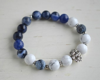 PRANA bracelet - Howlite & Sodalite