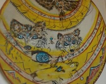 shamanic wolf drum + Wolf Shaman Drum