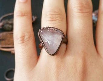 Rose Quartz Ring Size 8.5