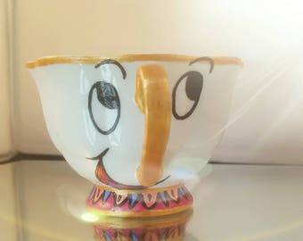 Handpainted Chip teacup from Disney Beauty and the Beast