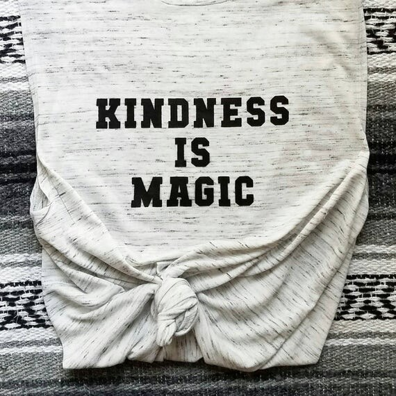 KINDNESS IS MAGIC , White Marble Tank Top, Kindness Tee