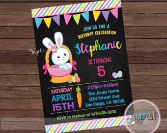 Easter Birthday Party Invitation, Easter Party Invitation, Easter Birthday Party Invitation, Easter Egg Hunt Party Invitation, Digital File