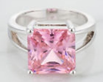 pink ice ring size 7 plated