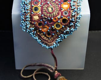 Afghan Treasure Pouch Coin Bag Old Beading