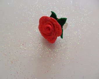 """Enchanted rose ring """"Beauty and the Beast"""""""