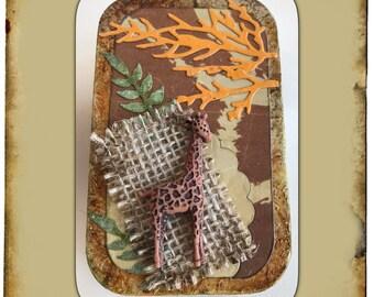 Giraffe Safari Tin | trinket box | gift card holder