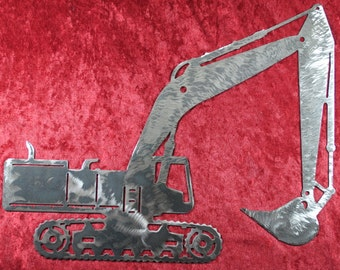Excavator, Dirt Digger, Earth Digger, Metal Excavator, Metal Decor, Metal Wall Art, Heavy Equipment, Heavy Equipment Operator, Man Cave