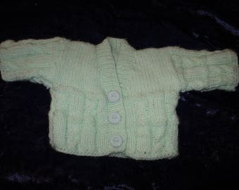 14 inch Hand Knitted cable Cardigan