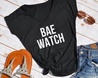 BAE WATCH Tshirt- Bae watch- Summer tshirt- beach tshirt- vacation tshirt- beachwear- bay watch shirt