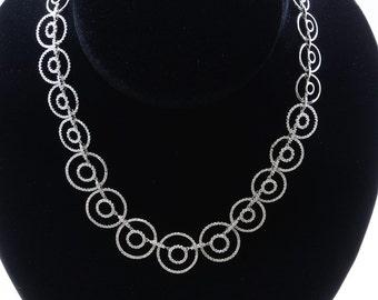 18K White Gold Necklace/Diamond- 5.04ct