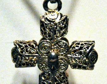 Vintage Silver Cross on Chain