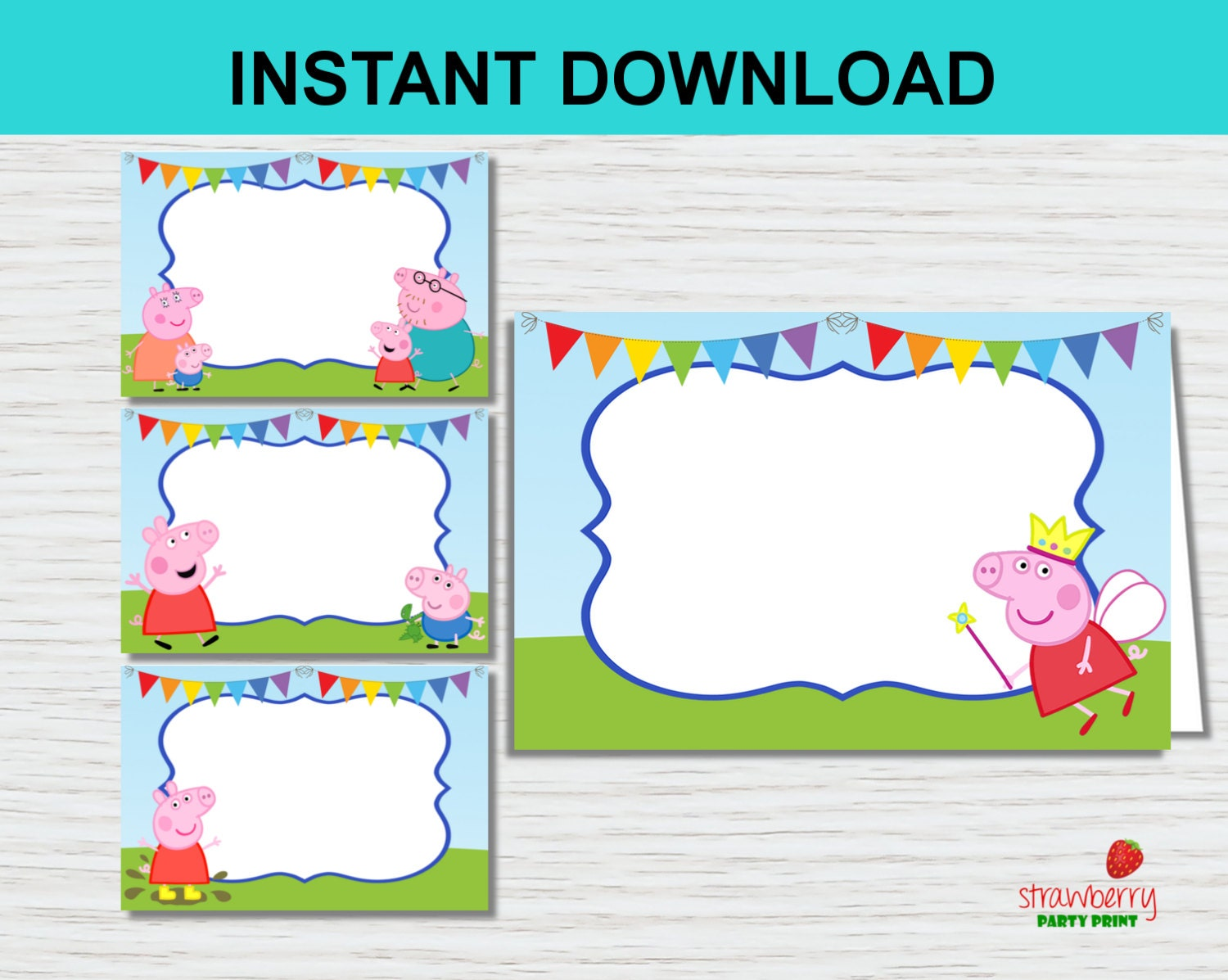 peppa pig food tents food labels peppa pig party printables