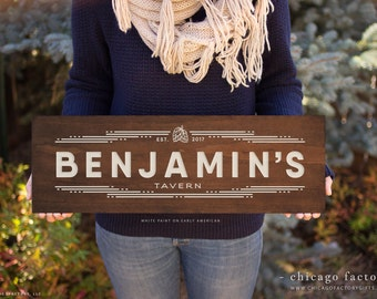 Custom Bar Sign, Wooden Bar Sign, Personalized Bar Sign, Personalized Home Bar Sign, Rustic Home Decor, Bar Gifts, Birthday Gift (GP1043)