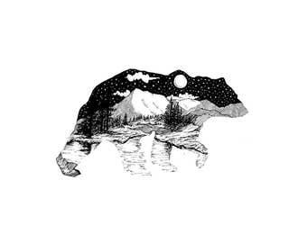 Bear Print A4