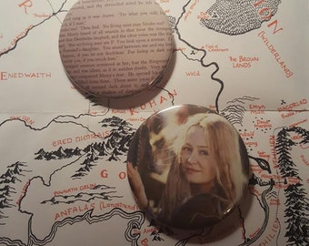 Eowyn Lord of the Rings 2.5 Pin back Button Pack