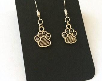 Dog Paw Earrings Dog Lovers Gift