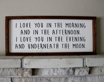 I Love You In ... Wood Sign