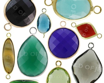 50pcs Lot Mixed Cabochon-crystal components Stock for necklaces, earrings and bracelets Spacer