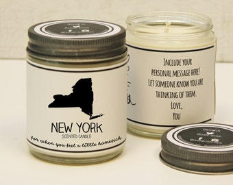 New York Scented Candle - Homesick Gift | Feeling Homesick | State Scented Candle | Moving Gift | College Student Gift | State Candles