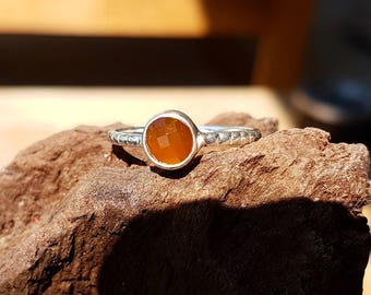925 Sterling Silber Ring mit Carnelian