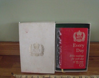1977 The Queens Silver Jubilee Every Day Bible Listings