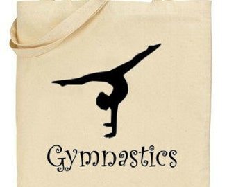 Gymnast Tote Bag,Cotton Tote Shopping Bag,Gym Kit Bag,Gym Training,Gift for Gymnast,Reusable Shopper Bag,Eco Tote Bag,Gymnastics Gift