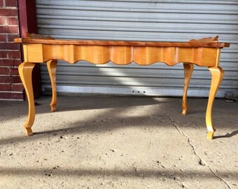 Stunning Vintage Vernacular Style Solid Maple Coffee Table