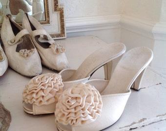 Sweet vintage boudoir shoes