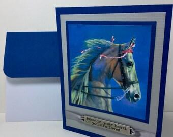 Saddlebred Card - American Saddlebred - Horse Lover - Equestrian - Handmade