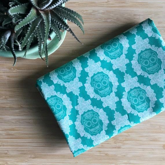 Furoshiki Gift Wrapping Cloth - Japanese Cotton Furoshiki - Sugar Skulls Design by Kendo Girl