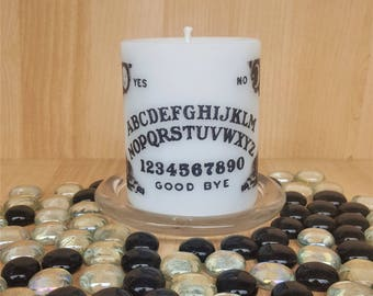 "Scented ""Beyond the Grave"" pillar candle#Ouija Candle#Spirit Communication#Gothic Gifts#Halloween Ideas"
