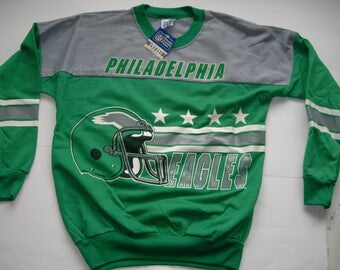Vintage Philadelphia Eagles  NFL football  sweatshirt by Garan made in the USA New with tags