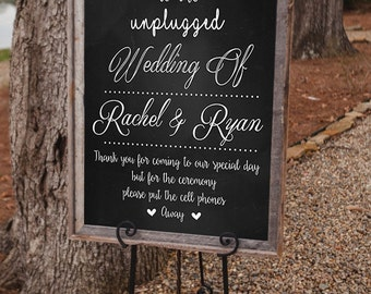 Welcome to Our Unplugged Wedding Sign *PRINTABLE*