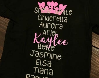 Personalized Princess Tee