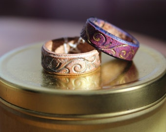 Leather ring: Filigree Pattern