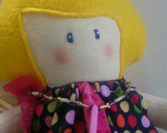Keira - Handmade Doll - Cloth Doll - Fabric Doll - Rag Doll