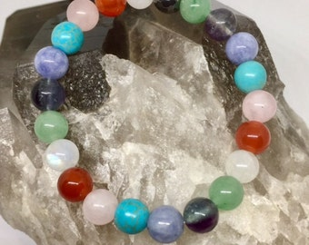 Fertility & Pregnancy Crystal Bracelet - Power Bead Bracelet - Crystal Gemstone Bracelet - Size choices