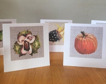 Autumn / Fall Collection Blank Art Cards Pack