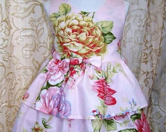 Floral layered dress with criss cross back detail