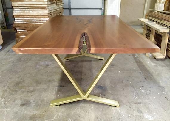 VShaped Dining Table Legs Industrial Legs Set of 2 Steel