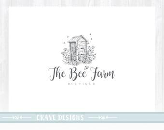 Bee Logo design, Honey bee Logo, Honey Product Logo, Natural Food logo, Food Blog logo, Watermark