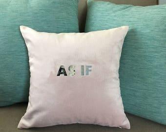 AS IF dusty pink velvet pillow