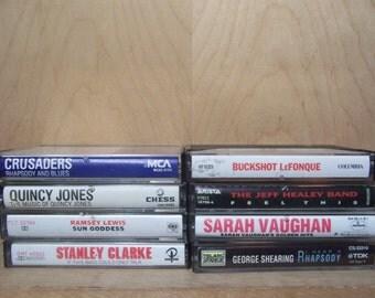 Vintage JAZZ & BLUES  Cassette Tapes - 1960's - 1990's