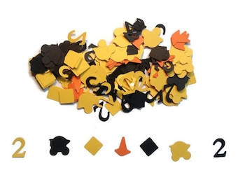 100 pieces of construction themed table confetti, Happy birthday table confetti, construction table confetti, construction birthday confetti