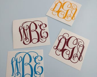 Monogram Decal, Monogram Sticker, Monogram, Yeti Decal, Yeti Decal for Women, Yeti Monogram, Yeti Decal for Men, Name Decal, Bridesmaid