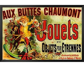 POPULAR 'Jouets as Seen on Friends' Framed Vintage Advertisement by Buy Art For Less