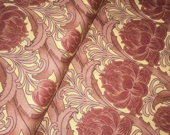 Morris Modernized Fabric 8266 13 Persimmon Collection -  CF Voysey by Barbara Brackman - Moda Fabrics 100 Percent High Quality C