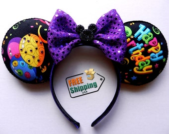Happy Birthday Disney Inspired Mouse Ears The Original Hand Embelished With Rhinestones … Free Shipping !!!