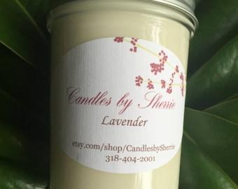 Lavender Vanilla 8 oz. Soy Candle